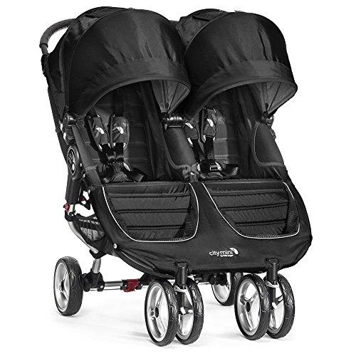 Baby Jogger City Mini Gemelar - Silla de paseo, color negro / gris