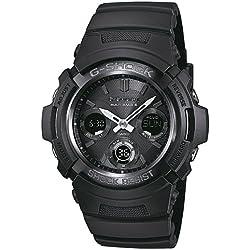 Casio Homme Analogique-Digital Quartz Montre avec Bracelet en Résine AWG-M100B-1AER