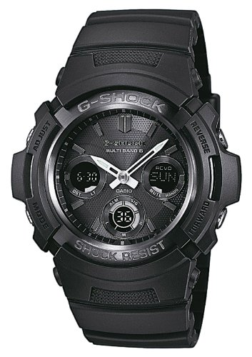 Casio G-Shock Analog-Digital Herrenarmbanduhr AWG-M100 schwarz, Solar und Funkuhr, 20 BAR - Casio-digital-solar-uhr