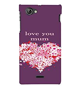 PrintVisa Mom Mother Quotes Design 3D Hard Polycarbonate Designer Back Case Cover for Sony Xperia J ST26i