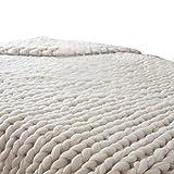 Winter Wolle gestrickt Decke, SHOBDW Hand Chunky gestrickte Decke dickes Garn Merino Wolle sperrige Stricken werfen 80x100cm (80x100cm/31.5-39.4
