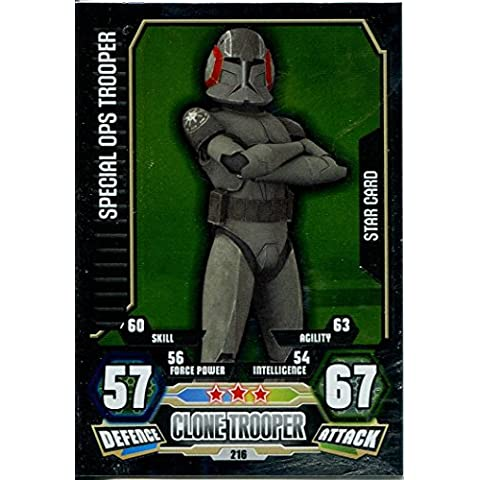 Force Attax Star Wars Serie 3,#216 Special Ops Trooper - Ops Serie