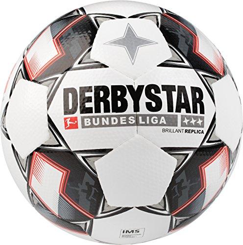 Derbystar Bundesliga Brillant Replica, 5, weiß schwarz rot, 1300500123 (Größe Fußball 5 Adidas)