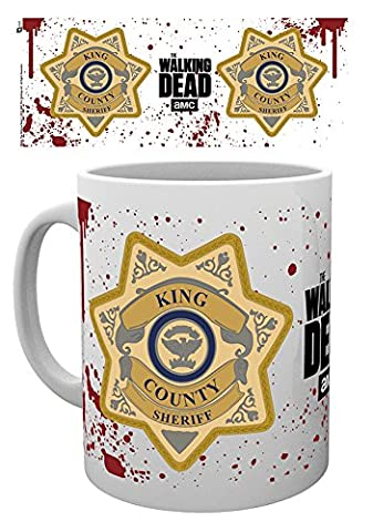 GB eye, The Walking Dead, Sherriff Badge, Mug