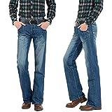 3b65e295caa Vaqueros Tapered para Hombre Pantalón ancho para hombre, corte de bota,  acampanado, pantalones