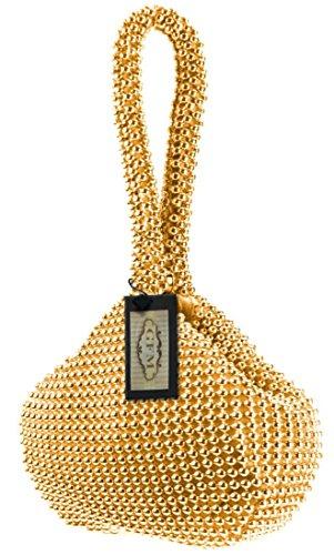 GFM Fashion, Poschette giorno donna Multicolore multicolore Small Dark Gold (#SN-11)
