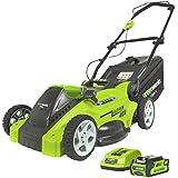 Greenworks Tools 2500007 - Cortacésped inalámbrico (corte de 40 cm, batería de 2 A, cargador de 40 V)