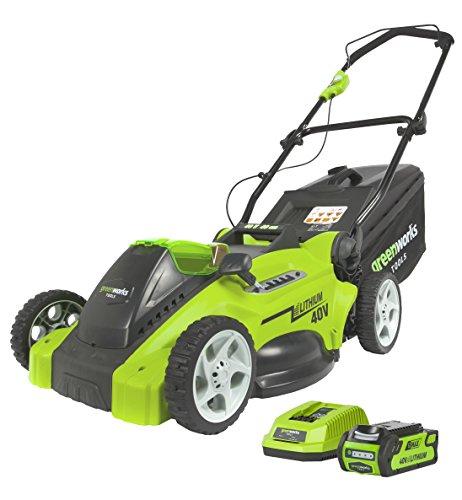 Greenworks Tools 2500007VA 40V, 40cm Akku-Rasenmäher inklusive 2 Ah Akku und Ladegerät