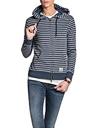 Franklin & Marshall Sweatshirt FLWAL590ANW16 For Woman, Striped Pattern, Drawstring Hood