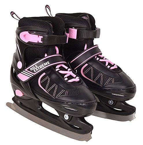 Schlittschuhe Hockeyschlittschuhe Eislaufen 2in1 Hockey Sport Wintersport Eis (rosa) (L)