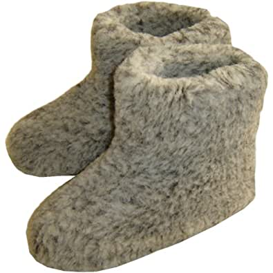 Men's Slippers Boots Made of 100% Pure Sheep Wool Size 4 5 6 7 8 9 10 (Size 10)