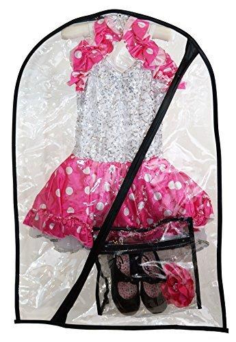 Boottique- The Boot Hanger Company Danse déguisement Bag-Children de Le Linge Sac pour Danse, Enfant déguisement de Danse Sac Clair + Mini Sac