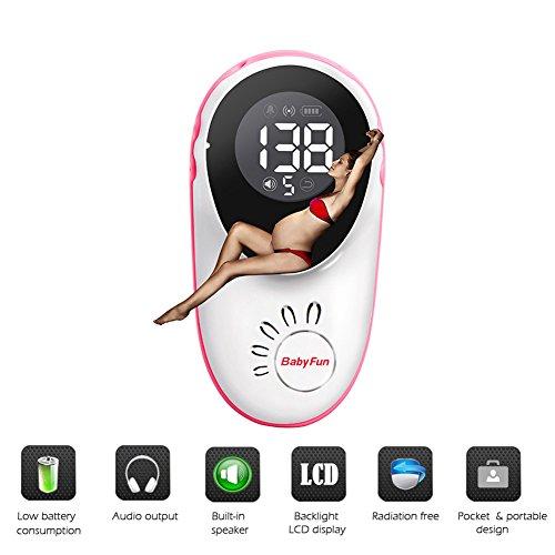 HSTV Baby Doppler Monitor Escuchando Los Latidos del Corazón del Bebé con Luz De Fondo LCD