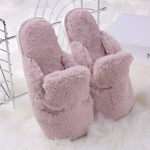 Tininna autunno e invernale calde morbido anti-scivolo peluche scarpe ciabatte delle coppie pantofole in cotone slippers per donne uomini