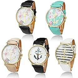 Imixcity®Secret Garden Woman Man Charm Watch Boat Infinity Anchor Leather Geneva Sailor Print Band Analog Quartz Wrist Watches Hot