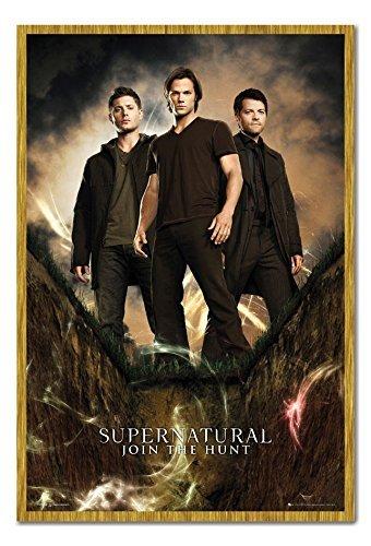 Supernatural gruppo poster sughero Pin Lavagnetta Rovere Con Cornice-96.5x 66cms (circa 96,5x 66cm)