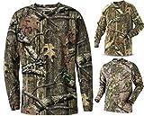 Herren Dschungel Druck Tarnung Kurzarm T-Shirt Camo Jagd Normal und Plus Size Top (4XL, Dschungel Druck Lange Ärmel)