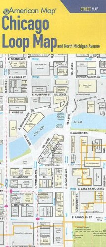 Chicago Loop Map and North Michigan Avenue Street Map (American Map)