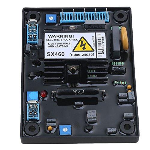 BQLZR 13.5x10x3cm Schwarz Metall & ABS Kunststoff Einstellbare AVR SX460 Automatische Spannung Volt Regler Ersatz F¨¹r - Abs-regler