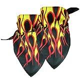 2er Pack Dreiecktstuch mit Flammen Muster
