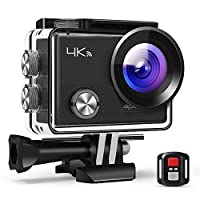 APEMAN A77 Action Camera - 4K Ultra HD - 20MP - Built-In WiFi - Supports Time-Lapse - Looping Video - Burst Photos and Continuous Lapse - 30M WaterProof - With Remot Control