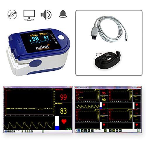 Pulsoximeter PULOX PO-250 mit OLED Farbdisplay, Software und Zubehör