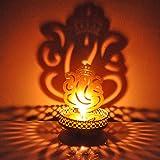 #5: Hashcart Decorative Shadow Ganesh Tea Light Holder For Diwali / Dã£Â©Cor / Gift