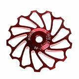 WalshK 13T MTB Keramiklager Jockey Rad Riemenscheibe Rennrad Fahrrad Schaltwerk (Rot)