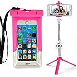 Vangoddy Selfie Stick Bluetooth Summer Beach Fun Waterproof Case For Lg V20 / V10 / G5 / G5Plus / G6 With Neck Lanyard (PT_SMSWAP472SLF104_LG)