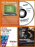 Windows 7 Home Premium 64 Bit MAR Refurbished Deutsch inkl. Service Pack 1 (SP1) inkl. McAfee Internet Security 3 User 1 Jahr + Corel Paintshop Pro Photo X2