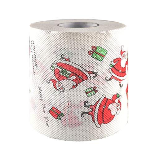 SUPVOX Toilettenpapier-Rollenserviette des Weihnachten 3pcs mit lustigem Badtuch Sankt-Musters für Weihnachtsfeiertagsparty-Badezimmerdekoration
