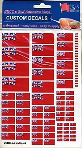 GB Navel Red Ensign Vinyl Flag Decal Multi Pack Modelling