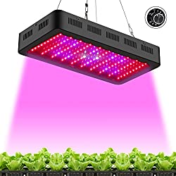 TOPLANET Dimmbare 300w Pflanzenlampe LED Grow Wachstumslampe Pflanzenleuchte Vollspektrum LED Serie mit UV IR Licht für Innen- Gewächshaus Grow Box Veg Keimung Blühen