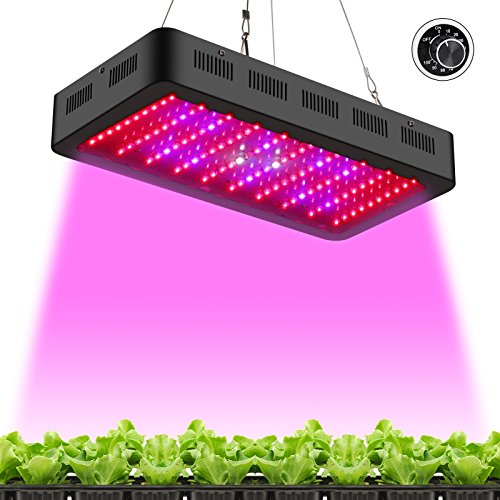 TOPLANET Dimmable 300w Lampe pour Plante Culture Spectre complet LED Grow Light UV&IR Lampe de Croissance pour Indoor Grow Box/Hydroponique Plante Semis