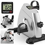 Kinetic Sports Mini Bike Pedaltrainer Heimtrainer Arm- und Beintrainer Bewegungstrainer mit Trainingscomputer, Silber