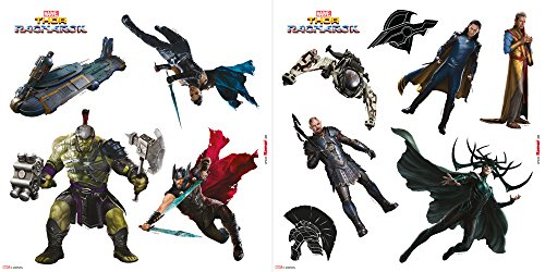 Komar - Marvel - Window-Sticker AVENGERS - 31 x 31 cm - Fensterdeko, Fenstersticker, Superheld, Thor, Loki, Comic - 16410