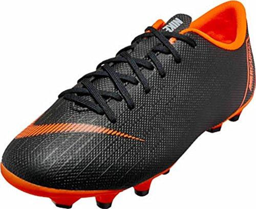 Nike Unisex-Kinder Jr. Mercurial Vapor XII Academy MG Fußballschuhe, Schwarz (Black/Total Orange-W 081), 37.5 - Vapor Nike Fußball