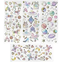 New Celebration Magical Unicorn Stickers Assorted Any Puffy 3D Kids Birthday Party Bag Fillers Self Adhesive