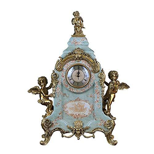 irugh Kaminuhren,Keramik + reines Kupfer Bell Luxus Wohnzimmer Veranda Handwerk dekorative Ornamente Klassik * 14Cm