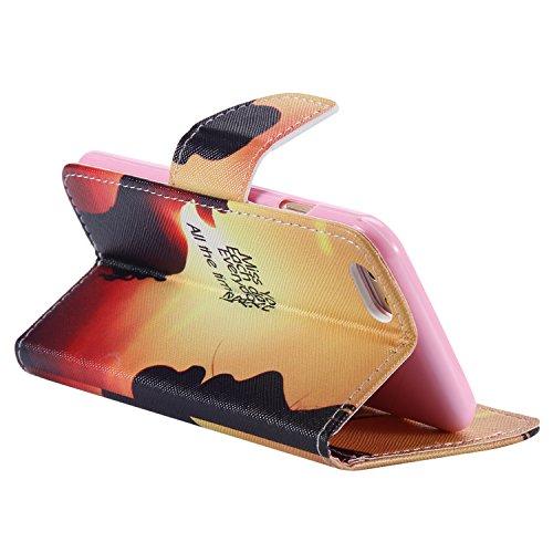 """Ooboom® iPhone 6S/6 4.7"""" Hülle Flip PU Leder Schutzhülle Handy Tasche Case Cover Wallet Standfunktion mit Kartenfächer für iPhone 6S/6 4.7"""" - Indianer Kopfschmuck Miss You"""
