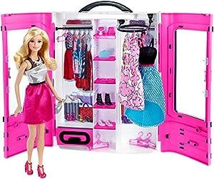 Barbie Fashionsita - Barbie y su Armario Fashion, muñeca con Accesorios, Ropa y complementos (Mattel DMT58)