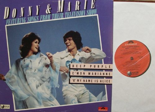 DONNY & MARIE / FEATURING SONGS FROM THEIR TELEVISION SHOW / 1976 / Bildhülle / Polydor # PD-6068 / amerikanische Pressung / 12