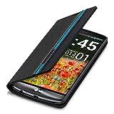 kwmobile Flip Hülle Case für LG G3 mit Streifen