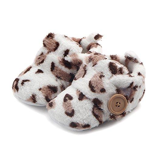 Butterme Neugeborene Fleece Bootie, Unisex Baby Premium Soft Sole Anti-Rutsch Infant Prewalker Kleinkind Schuhe -