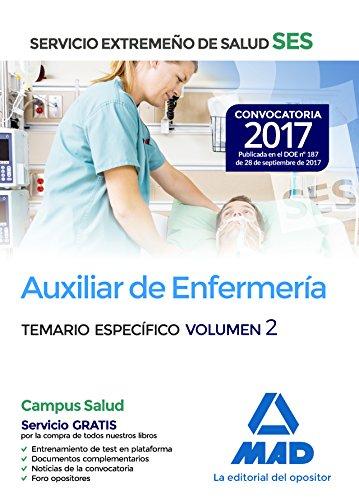 Auxiliar de enfermería del Servicio Extremeño de Salud (SES). Temario Específico volumen 2
