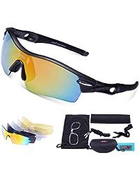 Gafas de Sol Deportivas Polarizadas,Carfia TR90 UV400 Unisex Gafas de Sol Deportivas Polarizadas a