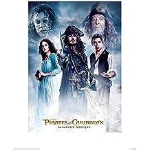 """Pirati dei Caraibi: Salazar S Revenge """"cast montato e stampa con cornice, multicolore, 30x 40cm"""