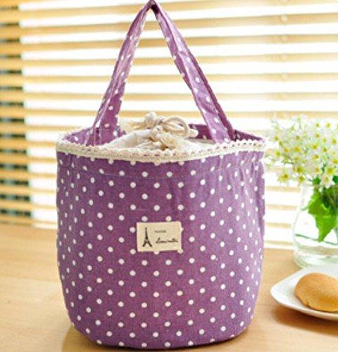 yudanwin Spots rund um Lunch Aufbewahrungstasche Lunch Erhaltung Wärme bag-1pc violett