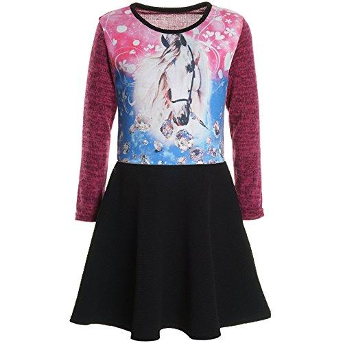 Kostüm Macht Anna - BEZLIT Mädchen Kinder Spitze Winter Kleid Peticoat Fest Kleider Lang Arm Kostüm 20922 Pink Größe 164