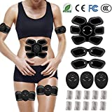 FishOaky EMS ABS Trainer, Abdominal Toning Belt, Ab Belt/Ab Toner, EMS Muscle Stimulator, Muscle Toner Fitness Training Gear for Men Women | Abdomen & Arm & Leg Trainer | for Office, Home & Gym